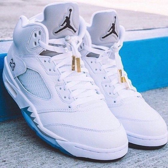 "Let's have a white Christmas. The Nike Air Jordan 5 Retro ""Metallic Silver"" at…"