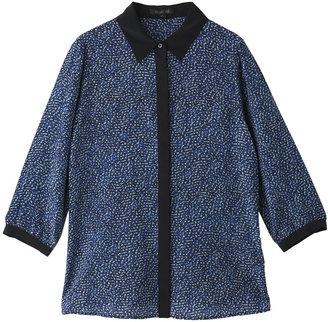 Dots print silk blouse / ShopStyle: Rachel Zoe (レイチェル ゾー) ドットプリントシルク バイカラーブラウス