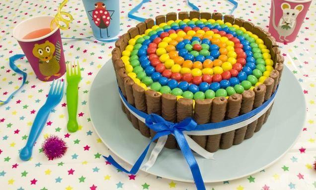 Charlotte taart met chocolade                              -                                  Deze charlotte taart met chocoladekoekjes en gekleurde chocosnoepjes is een feestje op jouw tafel. Leuk als verjaardagstaart of gewoon omdat het leuk is om te maken ;-)