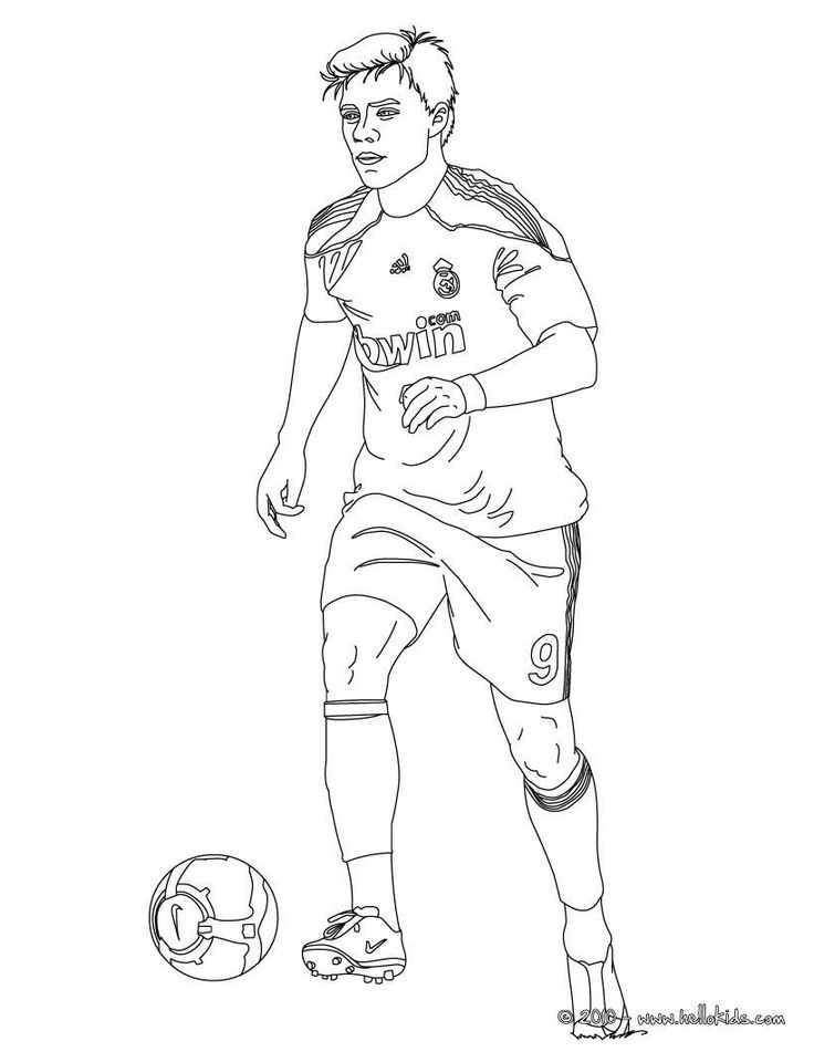 Football Player Coloring Pages Beautiful soccer Colouring ...
