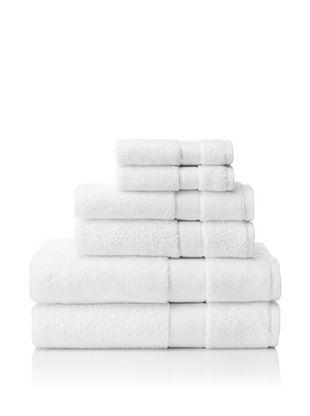 66% OFF Espalma 6-Piece Signature Bath Towel Set (White)