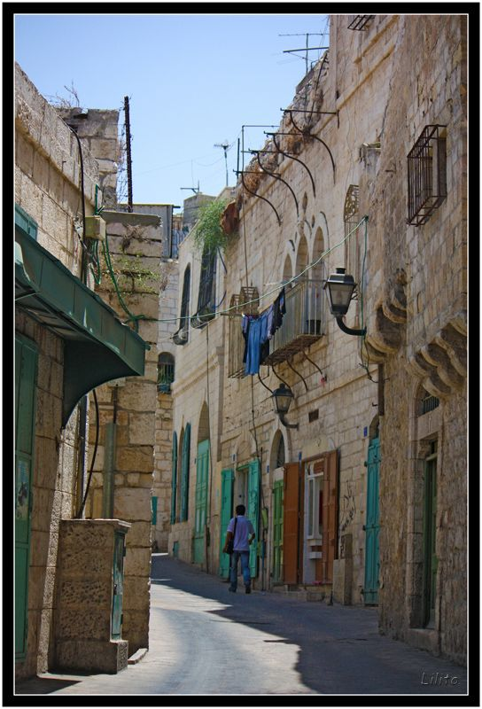 In the street - Bethlehem, Gaza. Love to see Bethlehem
