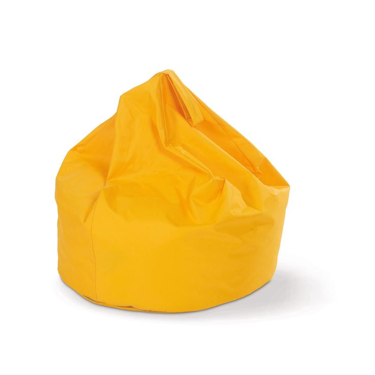 Cheery daffodil yellow outdoor beanbag.