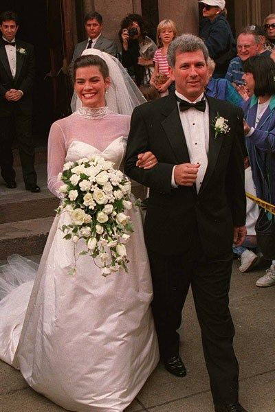 Retired American ice princess, Nancy Kerrigan, and Jerry Solomon, her former manager, tie the knot in 1995.