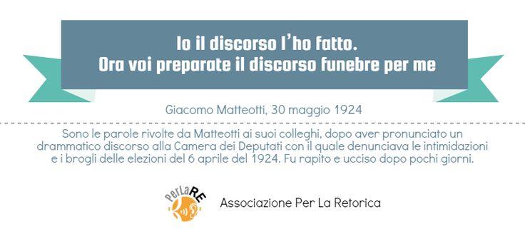 Giacomo Matteotti: parole per la libertà #retorica