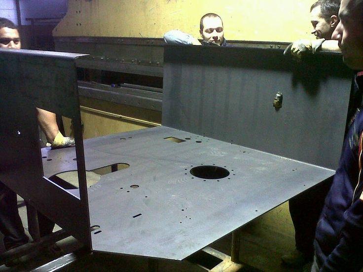 Bending large parts on a press brake - Steel Profile Brasov