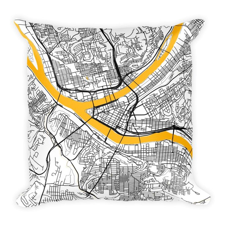 Pittsburgh Pillow, Pittsburgh Throw Pillow, Pittsburgh Decor, Pittsburgh Map, Pittsburgh Art, Pittsburgh PA, Pittsburgh, Pittsburgh Cushion by ModernMapArt on Etsy https://www.etsy.com/listing/494894505/pittsburgh-pillow-pittsburgh-throw