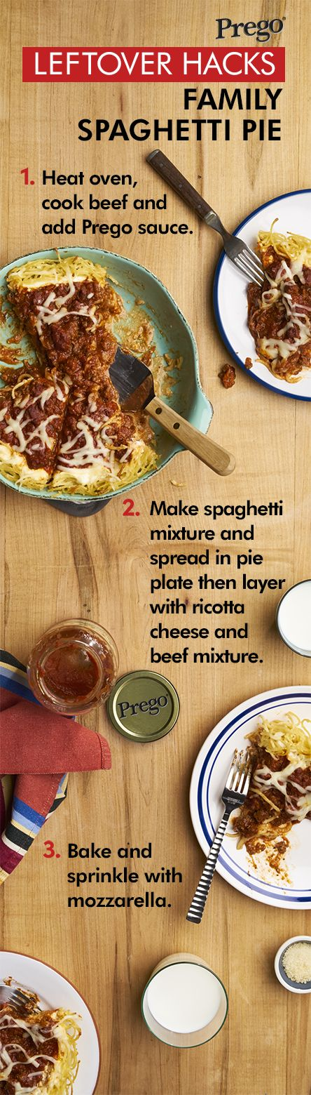 Move over apple, with just a little leftover spaghetti this delicious dish will be your family's new favorite pie.