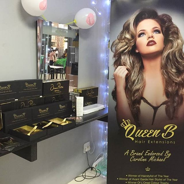 "QueenB is @galleriamall today!!! Come check us out! At ""I Am Studio"" opposite Mug and Bean #QueenBHE #queenbhairextensions"