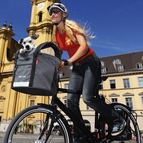 Rixen und Kaul Doggy Panier vélo pour chien Noir