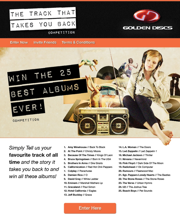 Golden Discs Sweepstakes Competition