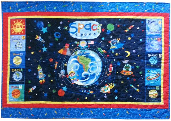 94 best baby quilt ideas images on pinterest for Outer space fabric panel