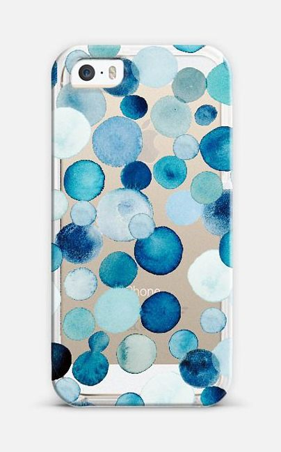 Bubbly Azure iPhone 6 case by Kiana Mosley