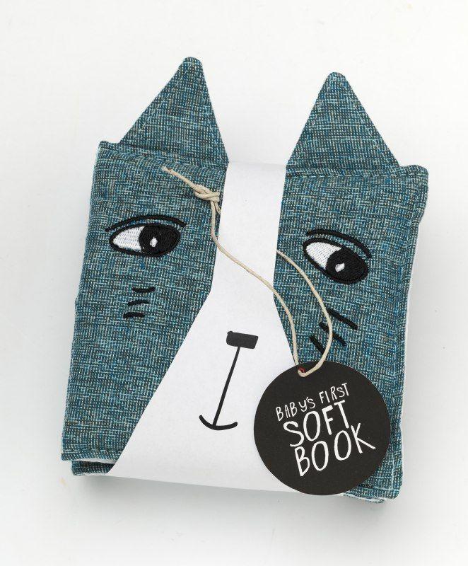 Látková+kniha+převážně+pro+děti+předškolního+věku,+ilustrovaná+černými+a+bílými+tučnými+čarami.