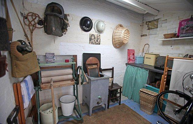 Washhouse: The laundry - but the mangle hides a modern washing machine