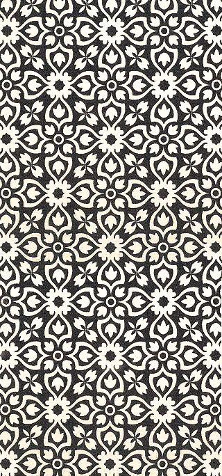 kasser til sort eller grå reol. flot sort/hvidt mønster fra equilter.com