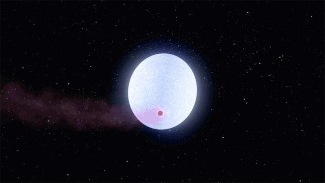 Ilustrasi planet KELT-9b yang atmosfernya menguap saat mengitari bintang KELT-9. Kredit: NASA/JPL-Caltech   SpaceNesia - Baru-baru ini, ...