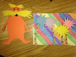 Lorax and Truffula trees for Dr. Seuss Week!