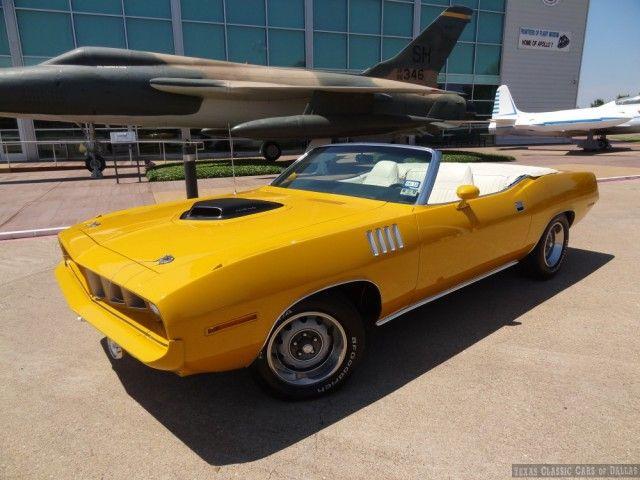 1970 Plymouth 'Cuda Convertible #yellow