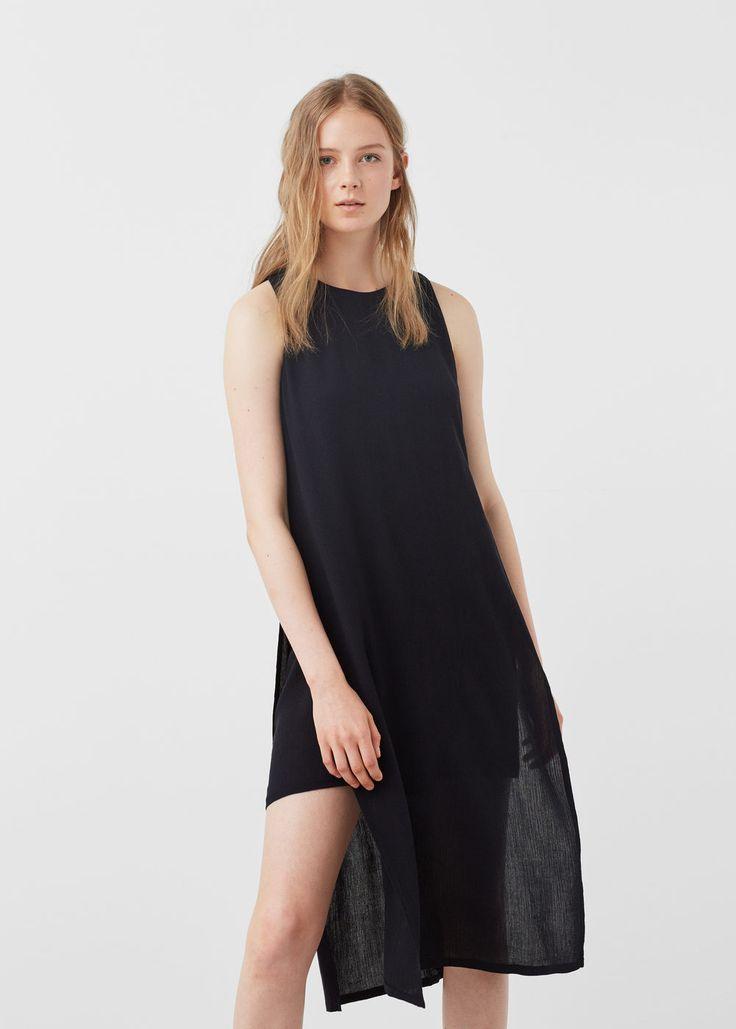 Side slit dress - Dresses for Woman   MANGO USA