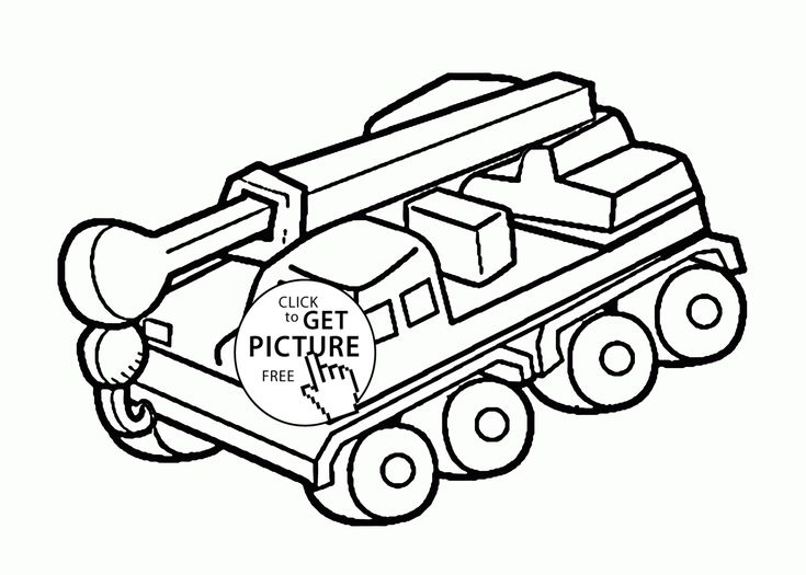 Cool Crane Truck Coloring Page For Kids Transportation Pages Printables Free