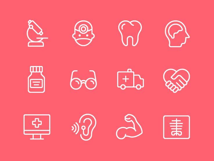 Healthcare Iconography by Zach Roszczewski
