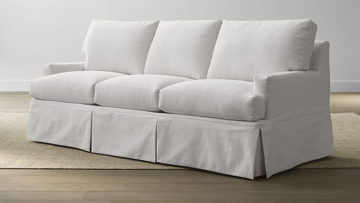Hathaway Slipcovered Queen Sleeper Sofa | Crate and Barrel
