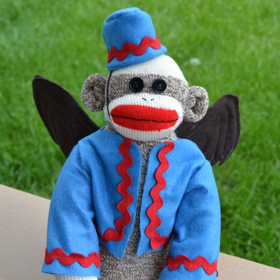 Hey, I found this really awesome Etsy listing at https://www.etsy.com/listing/79766884/flying-sock-monkey-doll