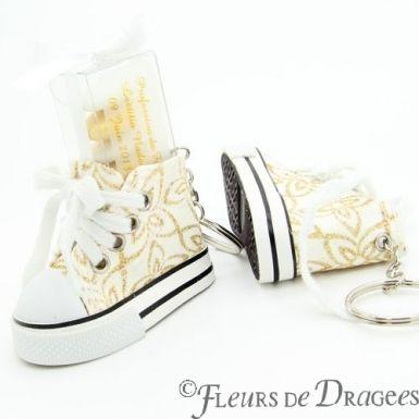 Chaussure Basket à dragées fleurs X10