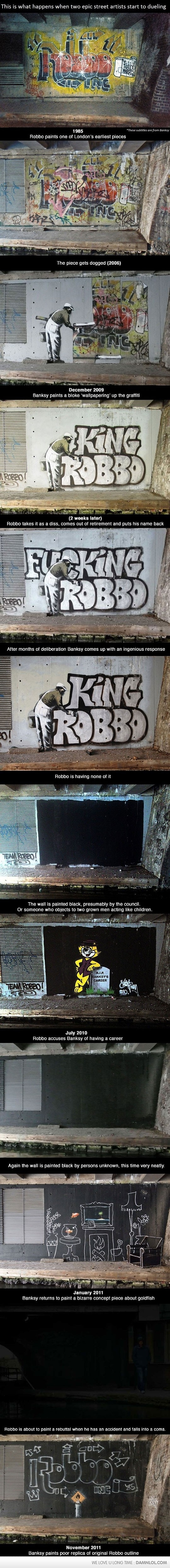 Faith In Humanity Restored. Robbo vs. Banksy.