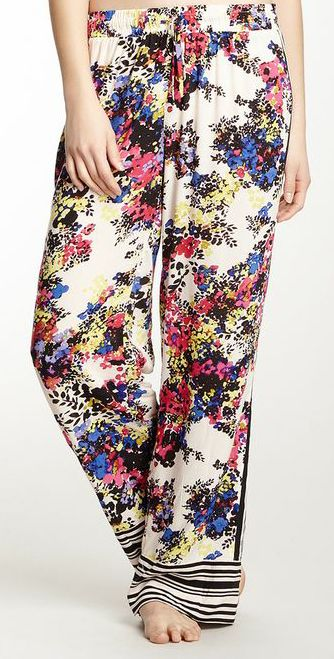 Paneled Long Pant - love the floral print!