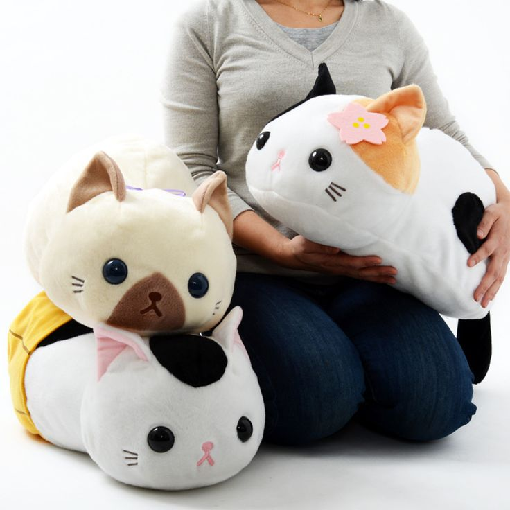 These plushies are big, so they will surely look extra adorable when placed on a bed or couch!