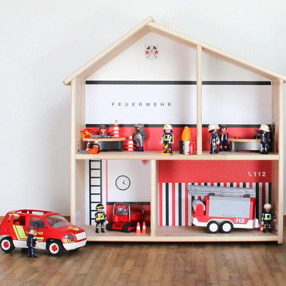 Fire Station Sticker Wall Decal Gift Boy Room Decor