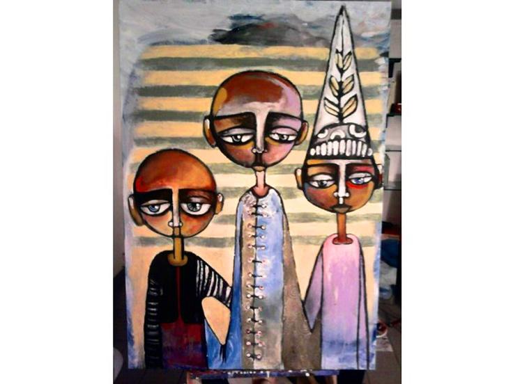 mixed media on canvas  100 x 80 cm