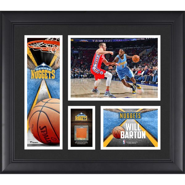 "Will Barton Denver Nuggets Fanatics Authentic Framed 15"" x 17"" Collage with a Piece of Team-Used Ball - $79.99"