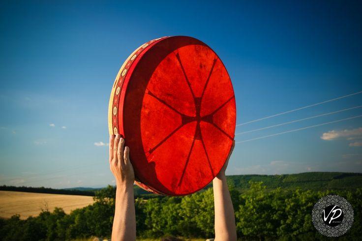 22'Shaman drum, Frame drum, fullMoon-drum,Stage drum,Deer Hide paited                       – VPdrums