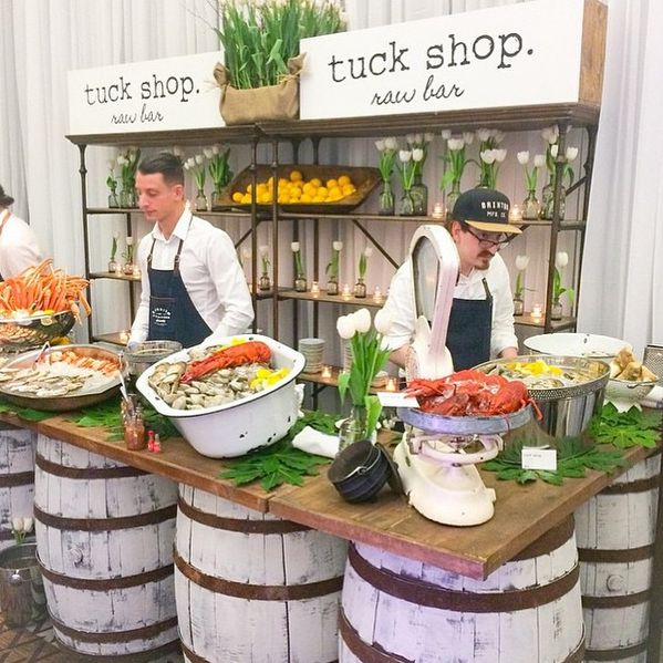 Whitewash Barrel Bar  Can be used for a food station or Bar 6ft, 12ft and 14ft available