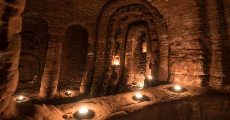 A 'caverna de cavaleiros templários' escondida sob toca de coelho