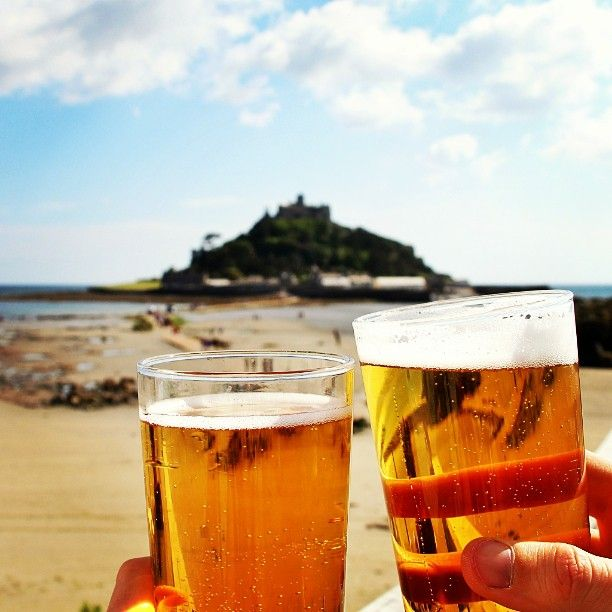 #St #Michael's #Mount #Cornwall #Beers #Summer #Drinks #Beach #Travel