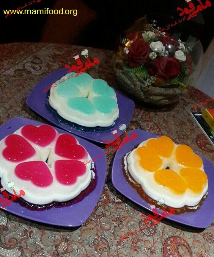 طرز تهیه ژله چند رنگ Recipe Confectionery Cake Food