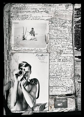 Peter Beard's diary page