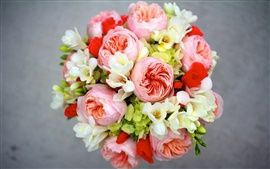 Freesia flowers in a bouquet.