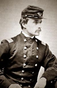 Robert Gould Shaw commanded the 54th Massachusetts Infantry, an African American regiment. Shaw had already fought in the battles of Cedar Mountain and Antietam with the 2nd MA Inf. when he took command of the 54th at the age of 25. Shaw was hesitant to leave his comrades for service in a regiment that he doubted would ever see action. Never the less, he would die leading them during their assault on Battery Wagner outside of Chalreston, SC.