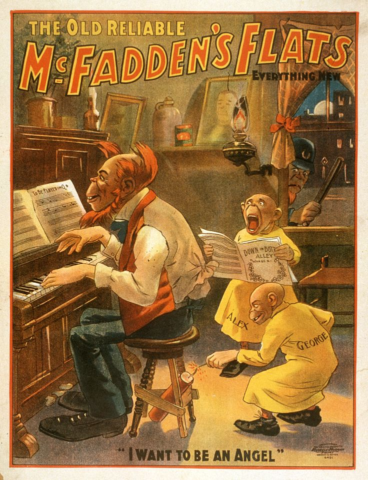 The Old Reliable McFadden's Flats Comedy Theater Poster, 1902 - http://retrographik.com/the-old-reliable-mcfaddens-flats-comedy-theater-poster-1902/ - classic, comedy, play, posters, Theater, theatrical, vintage