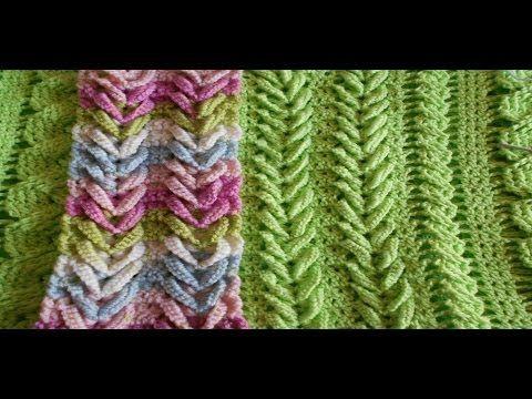 Como hacer punto espiga - trigo ( V ) Punto Fantasia en crochet - hermoso y elegante knitting - YouTube
