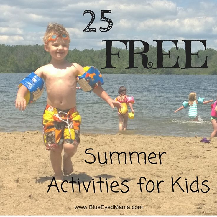 25 #Free summer activities for kids! Loads of fun for the children that won't break the bank! #summer #activities #kids
