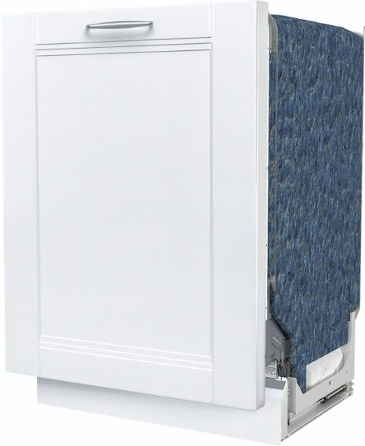 """Bosch - 800 Series 24"""" Custom Panel Dishwasher with Stainless Steel Tub - Custom Panel Ready - Left_Zoom"""