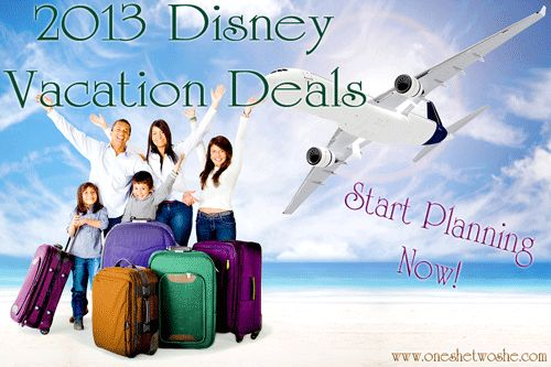 Wanting a Disney Vacation??  Here's the latest deals offered for 2013! ~ www.oneshetwoshe.com