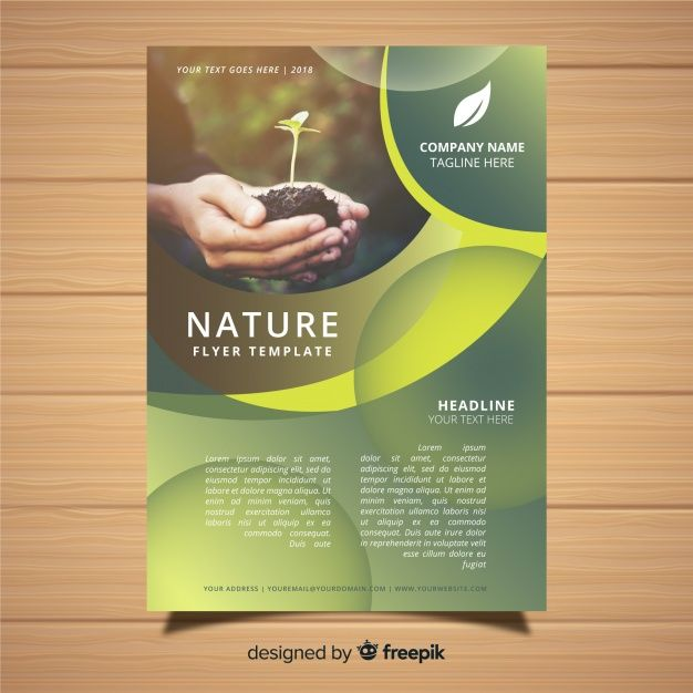 Nature Flyer Template With Modern Design Free Vector Flyer