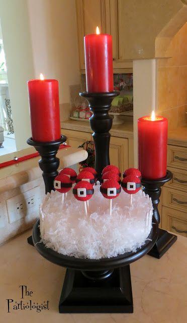The Partiologist: Santa Belly Cake Pops